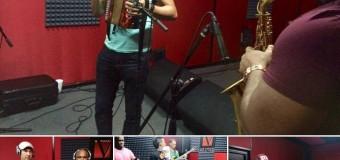 Nicol Peña grabando nuevos temas en A & M Vargas Productions Studios