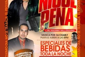 Photo of Evento: Miercoles 21 Nicol Peña En Vivo En @Santana's Sports Bar al Otro Dia No Se Trabaja