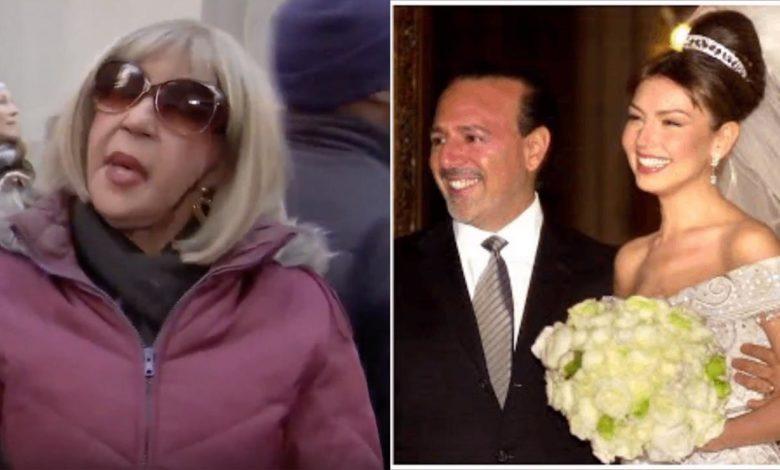 Fefita La Grande no descarta casarse y visita la iglesia donde Thalía dio el 'sí' en NY