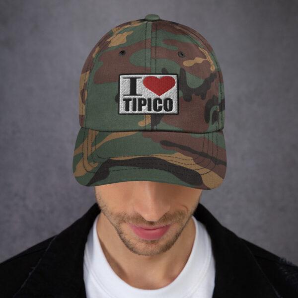 Gorra I Love Tipico color militar, I Love Tipico Hat Green Camo