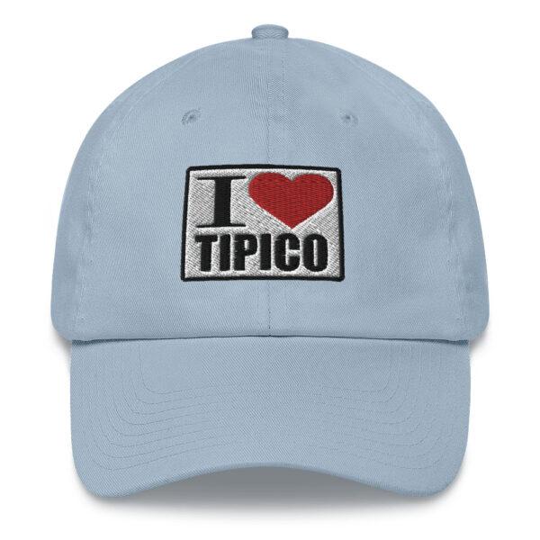 Gorra I Love Tipico Azul Claro, I Love Tipico Dad hat Light Blue