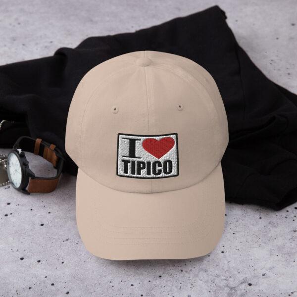 Gorra I Love Tipico color piedra, I Love Tipico Dad hat Stone